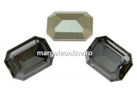 Swarovski, fancy rectangle, silver night, 14x10mm - x1