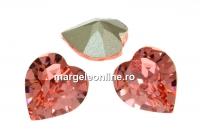 Swarovski, fancy inima, rose peach, 11x10mm - x1