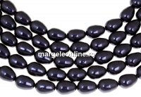 Margele Swarovski perle picatura, dark purple, 11x8mm - x2