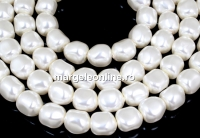 Margele Swarovski perle candy, white, 10mm - x2