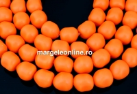 Margele Swarovski perle candy, neon orange, 10mm - x2