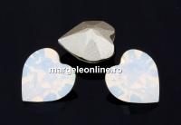 Swarovski, fancy inima, white opal, 6mm - x4
