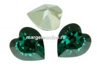 Swarovski, fancy chaton inima, emerald, 5.5mm - x4