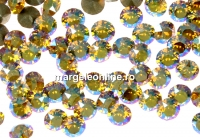 Swarovski, chaton pp18, light topaz shimmer, 2.5mm - x20