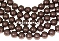 Perle Swarovski, brown velvet, 8mm - x50