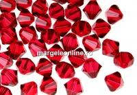 Swarovski, margele bicone xilion, scarlet, 4mm - x20