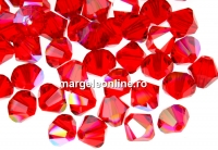 Swarovski, margele bicone, light siam shimmer, 4mm - x20