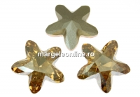 Swarovski, fancy mystic star, golden shadow, 13mm - x1
