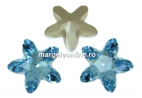 Swarovski, fancy mystic star, aquamarine, 13mm - x1