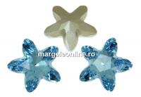 Swarovski, fancy mystic star, aquamarine, 13mm - x1