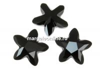 Swarovski, fancy mystic star, jet, 18mm - x1