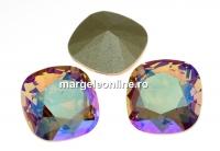Swarovski, fancy square, lt. colorado topaz shimmer, 10mm - x1