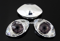 Swarovski, rivoli cabochon Eye, brown, 18mm - x1
