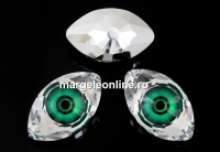 Swarovski, rivoli cabochon Eye, emerald, 18mm - x1