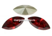 Swarovski navette, fancy chaton, scarlet, 4mm - x10
