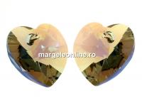 Swarovski, pandantiv inima, bl. diamond shimmer, 10mm - x2