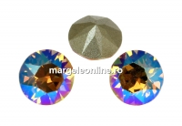 Swarovski, chaton ss39, light col. topaz shimmer, 8mm - x2