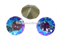 Swarovski, chaton ss39, light sapphire shimmer, 8mm - x2