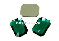 Swarovski, cabochon dreptunghi, emerald, 14x10mm - x1