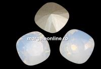 Swarovski, fancy square, white opal, 8mm - x1