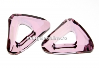 Swarovski, pandantiv cosmic triangle, antique pink, 14mm - x1