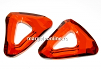 Swarovski, pandantiv cosmic triangle, red magma, 14mm - x1