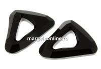 Swarovski, pandantiv cosmic triangle, jet, 20mm - x1