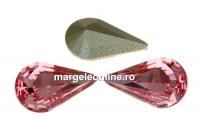 Swarovski, fancy rivoli Pear, light rose, 13mm - x2