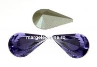 Swarovski, fancy rivoli Pear, tanzanite, 10mm - x2