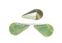Swarovski, fancy rivoli Pear, chrysolite opal, 6mm - x4