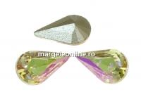 Swarovski, fancy rivoli Pear, luminous green, 8mm - x2