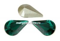 Swarovski, fancy rivoli Pear, emerald, 8mm - x2