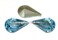Swarovski, fancy rivoli Pear, aquamarine, 13mm - x2