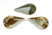 Swarovski, fancy rivoli Pear, golden shadow, 13mm - x2