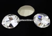 Swarovski, fancy rivoli, pure leaf, crystal, 10mm - x1