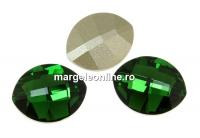 Swarovski, fancy rivoli, pure leaf, dark moss green, 10mm - x1