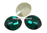 Swarovski, fancy rivoli, pure leaf, emerald, 14mm - x1