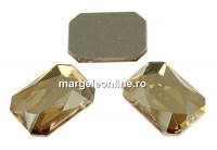 Swarovski, cabochon dreptunghi, golden shadow, 14x10mm - x1