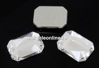 Swarovski, cabochon dreptunghi, crystal, 14x10mm - x1