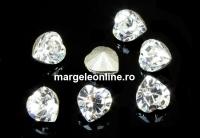 Swarovski, mini fancy chaton inima, crystal, 3.5mm - x4
