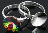 Baza inel argint 925, rivoli 14mm, interior 19.1mm - x1