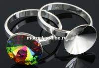 Baza inel argint 925, rivoli 12mm, interior 16.4mm - x1