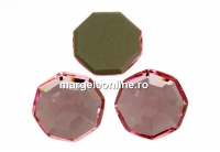 Swarovski, cabochon solaris, light rose, 10mm - x1