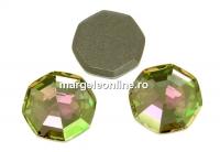 Swarovski, cabochon solaris, luminous green, 10mm - x1