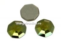 Swarovski, cabochon solaris, iridescent green, 8mm - x2