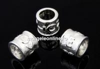 Margele decor, love, argint 925, 6.5mm - x1