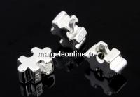 Margele decor, puzzle, argint 925, 9mm - x1