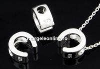Margele decor, potcoava, argint 925, 8mm - x1