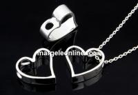 Pandantiv, inima, argint 925, 11.5mm - x1