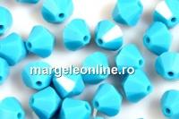 Swarovski, margele bicone, turquoise, 3mm - x20